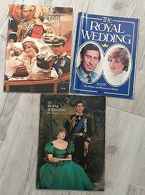 Vintage 1981 Royal Wedding Official Souvenir Books And Maclean's Magazine