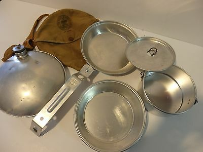 Official Boy Scouts of America Mess Kit w/cover and Canteen