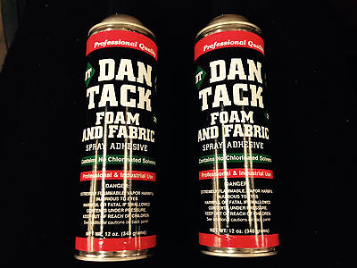 Dan Tack Spray Adhesive 12.00oz  Professional Industrial Strength  2 BIG CANS