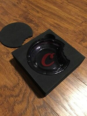 Cookies Sf Heavy Grey Gray Glass Ashtray !!! New !!!