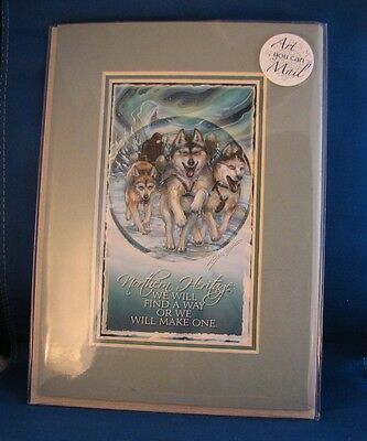 Sled Dog Mini Print by Jody Bergsma Siberian / Malamute