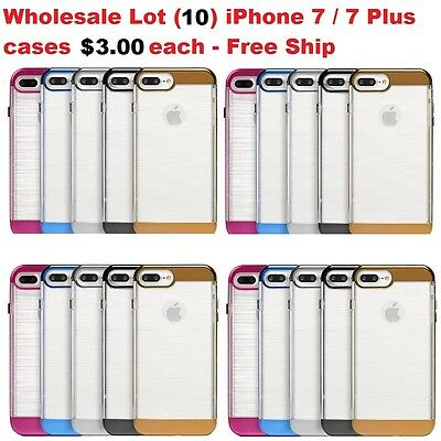 Wholesale Lot (10) iPhone 7 / 7 PLUS Hybrid cases in Retail Packaging - $3.00 ea