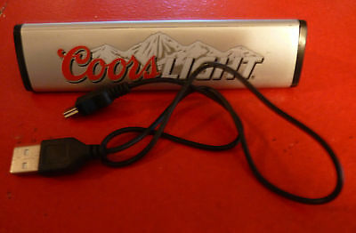 Cool Portable USB Mini Speaker Coors Light Beer ! Cable and Instructions