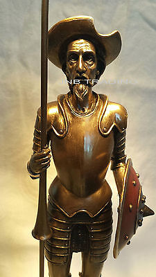 NEW Don Quixote Standing WIth Spear Statue Figures Sculpture Bronze FAST SHIPPIN