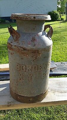 old vintage Borden's 1954 milk can