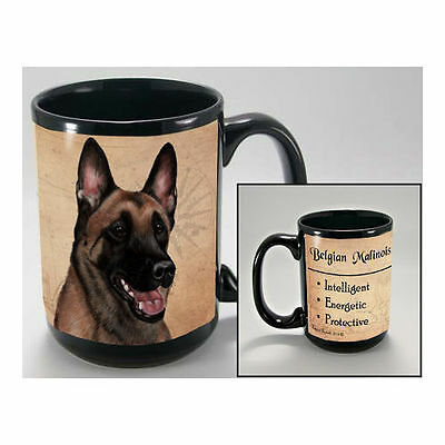 Belgian Malinois Faithful Friends Dog Breed 15oz Coffee Mug Cup