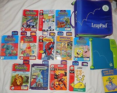 LeapFrog Leap Pad Learning System Lot 13 Books and Cartridges 2 in Spanish