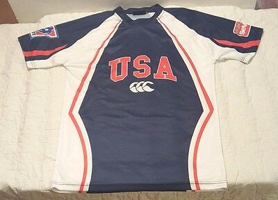 Canterbury of New Zealand USA 7's Sevens World Series Rugby Shirt Jersey Sz. L