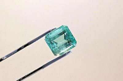 10.7 Carat Square Cut Natural Colombian Emerald Loose Gemstone