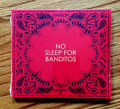 HANSON - No Sleep For Banditos CD (Exclusive 2012 Member EP) ***BRAND NEW***