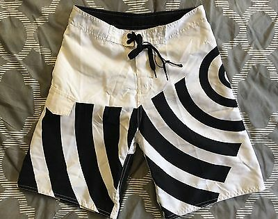 NEW C & K Board Shorts Swim Trunks Boys Black White Geometric NWT Retail $9.95