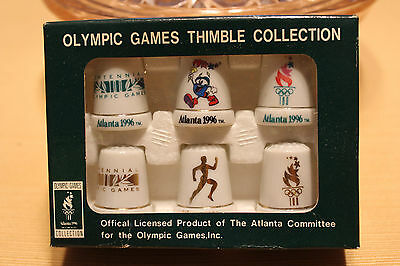 Atlanta Olympic Games Thimble Collection new in box