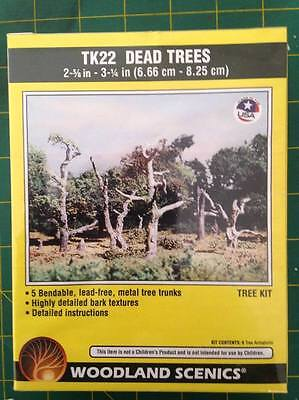 Woodland Scenics #TK22 Dead Trees 6.66cm-8.25cm 5 Bendable Trees