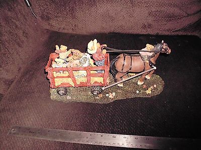 Boyds Bears Haymaker Family farm Horse Wagon simple pleasure lasting moments mnt