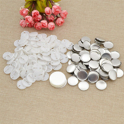 Pack of 100 Blank Pin Badge for DIY Letter Picture  Printing Bag Clothing Decor