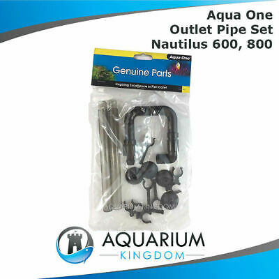 #11804 Aqua One Outlet U Pipe Set Nautilus 600 800 Canister Filter Spray Bar Out