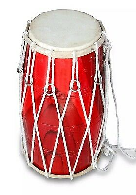 Dholak-Drums-T- Rope-Tuned-Made-With-Mango-Wood-Dholki-Dhol-Dholak 0136