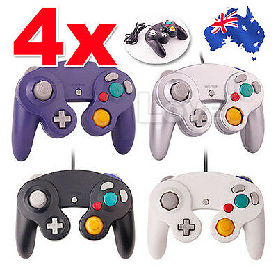 OZ New 4x Gamecube Controller Dual Shock Gamepad Joypad For Nintendo Wii GC NGC