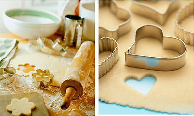 20pcs Durable Steel Cake Cookie Cutter Bread Biscuit Mold DIY Decor Tool