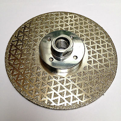 """125mm, 5"""" electroplated double sided blade. M14 FLANGE"""