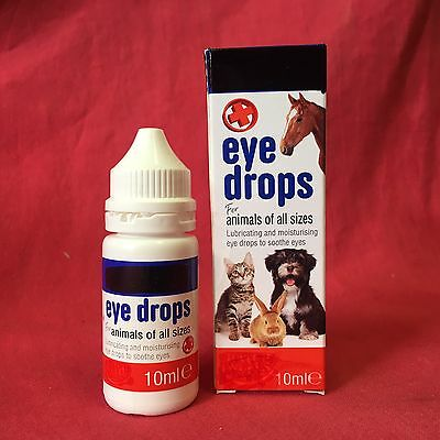 Eye Wash Drops Lubricating Moisturising Soothes Eye DOGS Cat Small Animals Horse