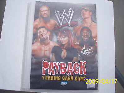Wrestling Wwf Payback Trading Card Game + Album 72 Cards