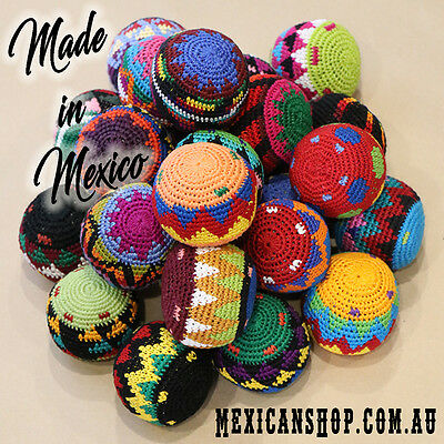 Hacky sacks, Toys, Juggling balls, Footbag, Stress balls, Magic, made in Mexico