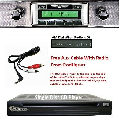 1956 Ford Thunderbird Stereo Radio, Free Aux Cable Included + CD Player 630CD