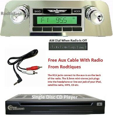 1961-63 Ford Thunderbird Stereo Radio + Free Aux Cable + CD Player 630CD
