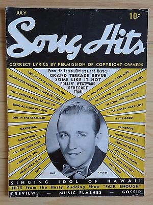 Song Hits Magazine -- July 1939 -- Bing Crosby, Bob Hope features