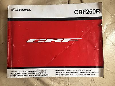 HONDA CRF250 R Owners Manual And Competition Handbook