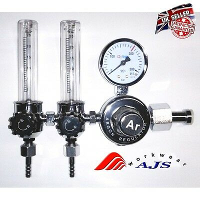 Co2 Argon Pressure Reducer Mig Tig Control Valve Regulator Welding Double Tube