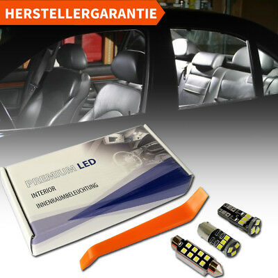 BMW 5er E39 Limo Touring M5 LED Innenraumbeleuchtung Premium Set Weiß 18 SMD