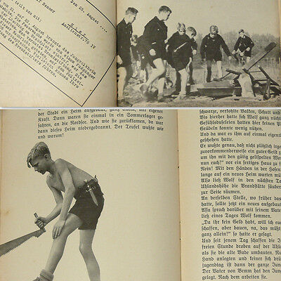 German Jungvolk Book 1930s w/60 photos Jungen Boys HJ Youth with reports