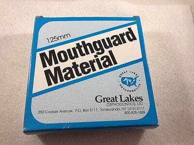 Great Lakes Mouthguard Material 3mm/125mm Round (CL)