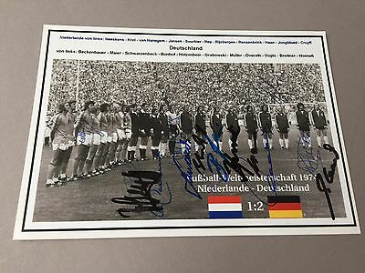 WM 1974 Weltmeister DFB komplett signiert In-person signed Foto 13 x 18 CRUYFF