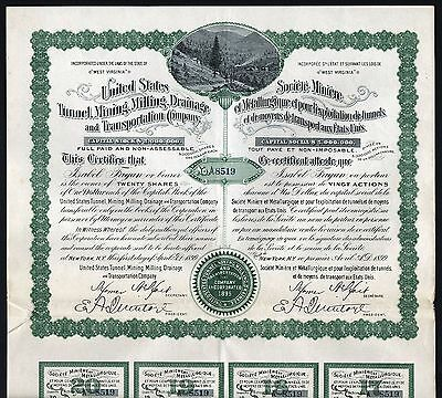 1899 United States Tunnel, Mining, Milling, Drainage & Transportation Company
