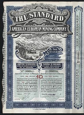 1910 Frankreich/USA: The Standard American European Mining Company