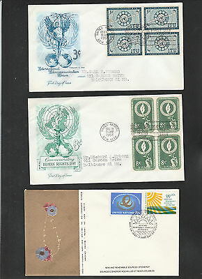 United Nations First Day Covers - Lot of 21 Different Covers - Various Dates