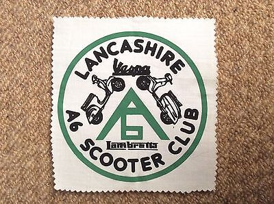 Vintage 1983 LANCASHIRE A6 SCOOTER CLUB Patch Badge Mods LAMBRETTA VESPA