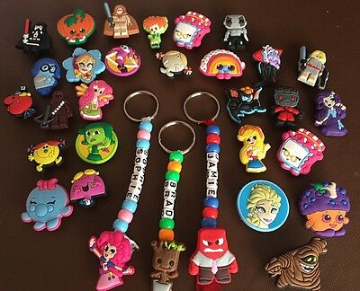 14 Personalised Handmade Name Keyrings,School Bag Tag Any Name Party Bag  Filler