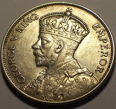 British Rhodesia, 1934 George V Half Crown, 1/2 Crown. 419,000 Mintage.