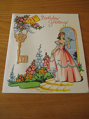 Vintage 21st Birthday Card - Unused