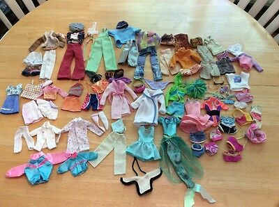 My Scene / Barbie Doll Clothes Lot Dr. Swim Cheer Modern Hats Shorts Outfits Bag