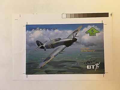 BT Phonecard - Hurricane PZ 865 - Paper Proof - Never Produced!