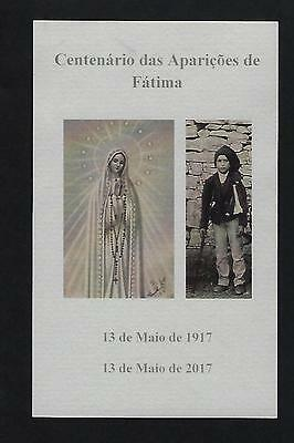 HOLY CARD 100 year apparition OUR LADY FATIMA Pope Francis canonize St.FRANCISCO