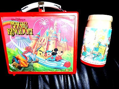 Walt Disney's Magic Kingdom Lunch Box Pail & Thermos