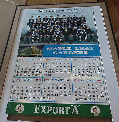 Vintage TORONTO Maple LEAFS at The Export Gardens 1973-1974 CALENDAR~Page ONLY
