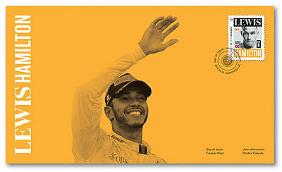 LEWIS HAMILTON - F1 IN CANADA - Canadian Grand Prix 2017 Stamp 1st Day Cover F1