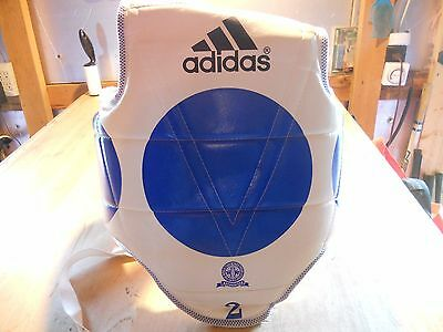 Adidas REVERSIBLE Chest Guard Sparring Gear Protector Taekwondo Karate Sz Small